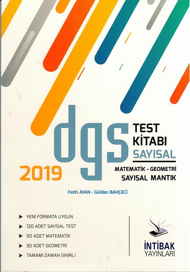 DGS TEST KİTABI SAYISAL MAT-GEO.SAY. MANTIK-2019